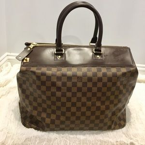 Authentic Louis Vuitton weekender bag damier ebene